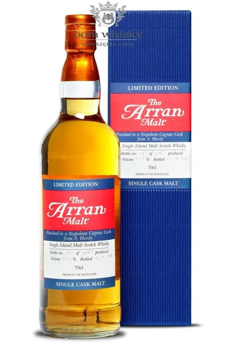 Arran Finished in a Napoleon Cognac Cask from A. Hardy/57,8%/0,7