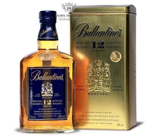 Ballantine's 12-letni Gold Seal (Tinbox Gold) / 40% / 0,7l