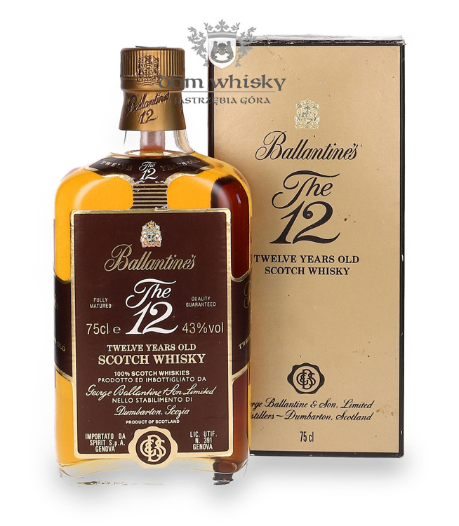 Ballantine's 12-letni old Label / Box / 43% / 0,75l