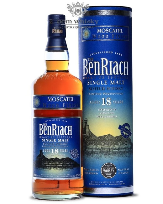BenRiach 18-letni Moscatel Wood Finish / 46%/ 0,7l