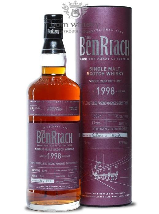 BenRiach 1998, 17-letni (PX Sherry Puncheon # 6394) /57,5%/ 0,7l