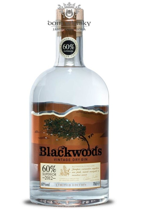 Blackwoods Vintage Dry Gin Superior 2012 (Szkocja) / 60% / 0,7l