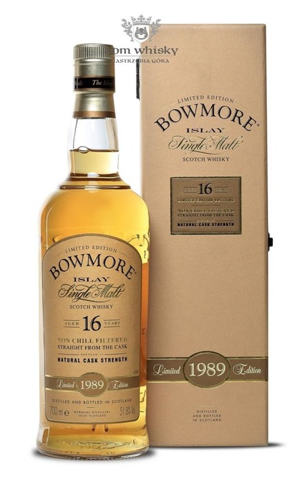 Bowmore 1989, 16-letni Natural Cask Strength  / 51,8% / 0,7l