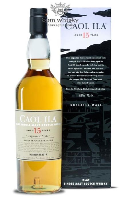 Caol Ila 15-letnia Unpeated, Cask Strength(B.2014)/60,39%/0,7l