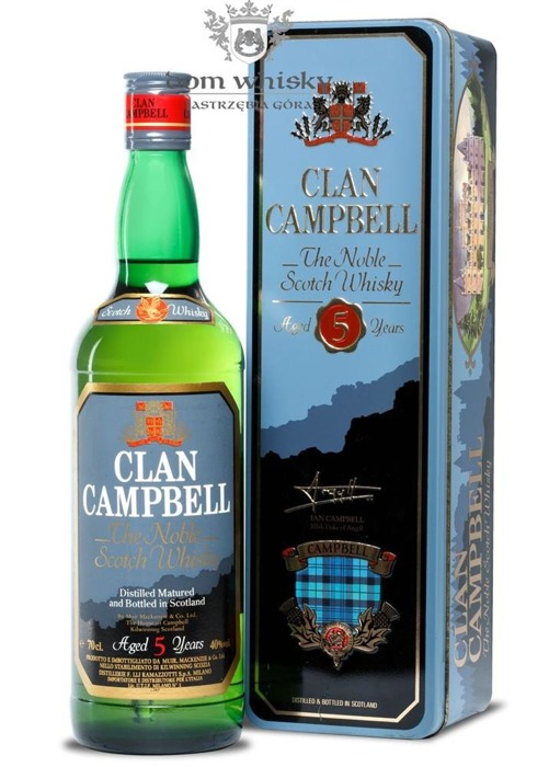 Clan Campbell 5-letni / Tin Box / 40% / 0,7l