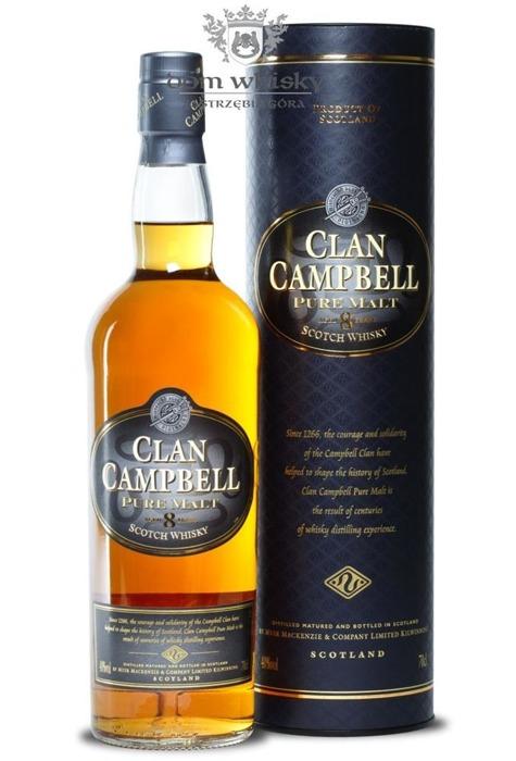 Clan Campbell Pure Malt, 8-letni / 40% / 0,7l