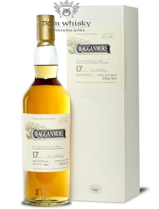 Cragganmore 17-letni, (D.1988 B. 2006) / 55,5% / 0,7l
