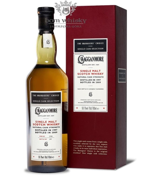 Cragganmore 1997 (B. 2009); The Manager's Choice / 59,7% / 0,7l
