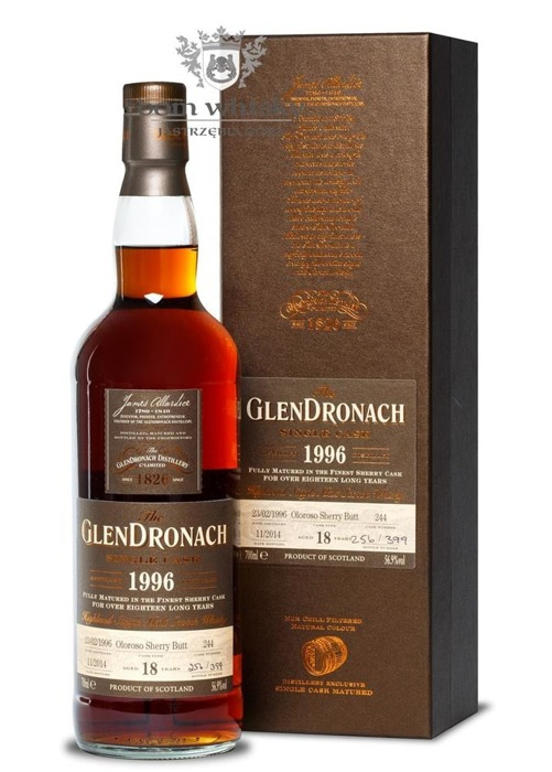 GlenDronach 18-letni (D.1996 B.2014) Single Cask # 244/56,9%/0,7