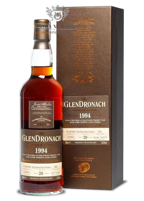 GlenDronach 20-letni (D.1994 B.2014)Single Cask # 3201/56,2%/0,7