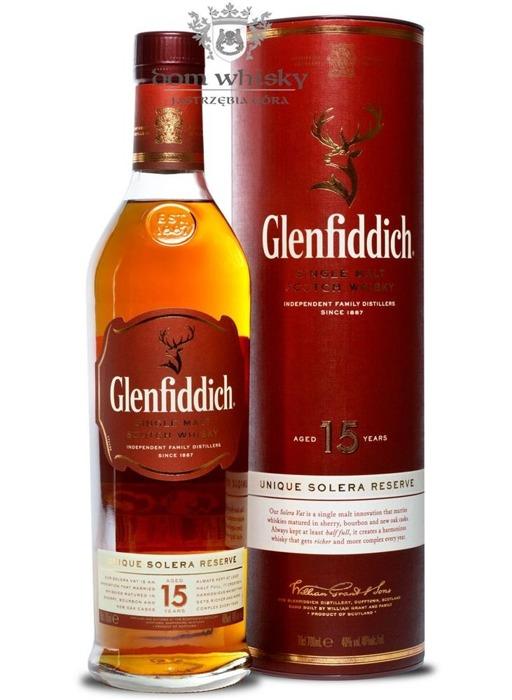 Glenfiddich 15-letni Unique Solera Reserve / 40% / 0,7l