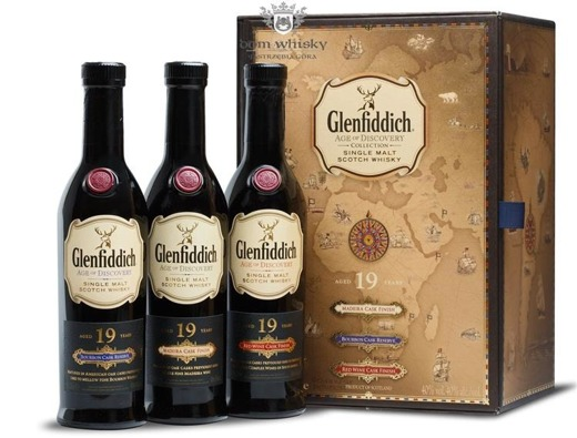 Glenfiddich 19-letni Age of Discovery Collection / 3 x 0,2l