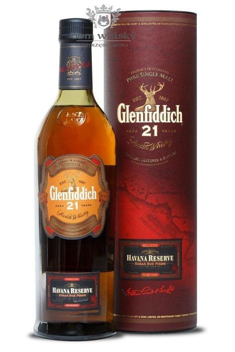 Glenfiddich 21-letni Havana Reserve Cuba Rum Finish / 40% / 0,7l