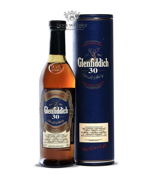 Glenfiddich 30-letni (Old Presentation) / 40% / 0,2l