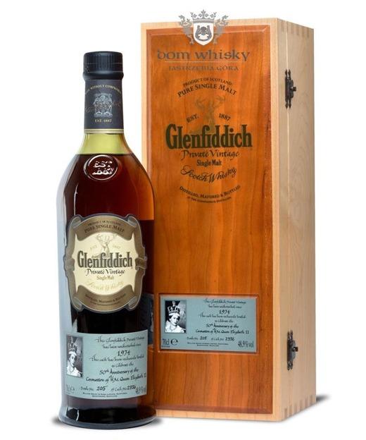 Glenfiddich 39-letni 1974 Private Vintage for Queen /48,9%/0,7l