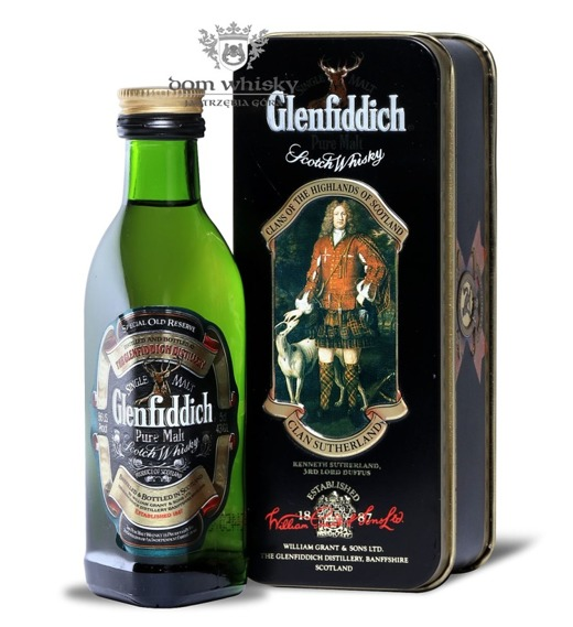 Glenfiddich Pure Malt, Clan Sutherland / 43% / 0,05l