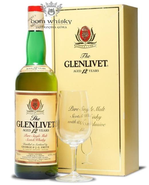 Glenlivet 12-letni (Bottled 1980s) Kieliszek gratis / 43% / 0,75