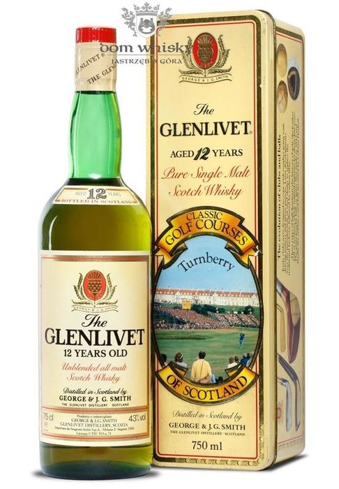 Glenlivet 12-letni, Classic Golf Courses, Turnberry / 43% / 0,75