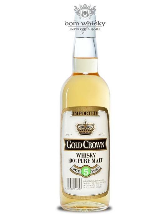 Gold Crown Whisky 100% Pure Malt, 5-letni / 40% / 0,7l