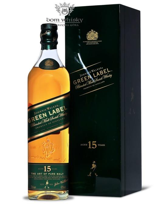 Johnnie Walker 15-letni Pure Malt Green Label (Wooden Box) / 43% / 0,7l