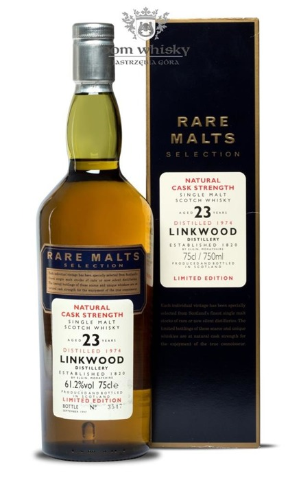 Linkwood 23-letni (D.1974, B.1997) Rare Malts / 61,2%/0,75l
