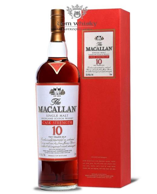 Macallan 10 letni Cask Strenght / 58,6% / 1,0l
