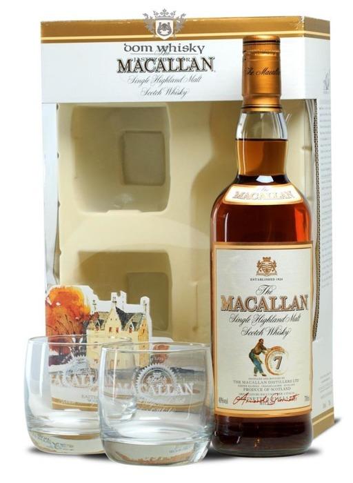 Macallan 7-letni Armando Giovinetti Sel. +dwie szklanki/40%/0,7l