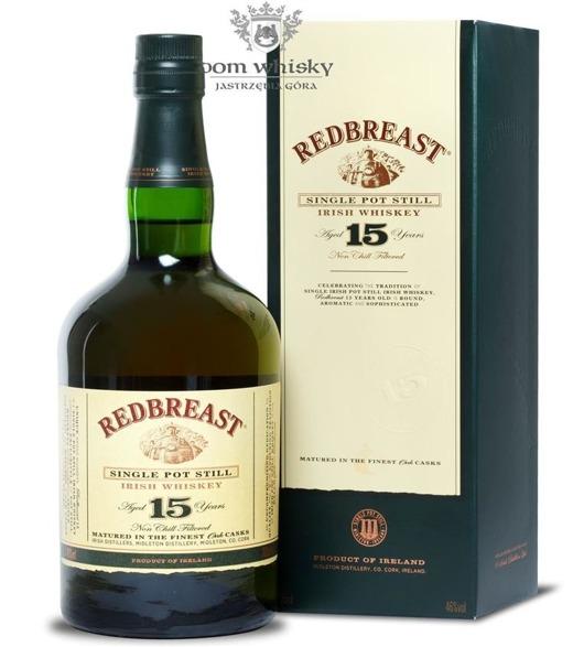 Redbreast 15-letni Single Pot Still / 46% / 0,7l