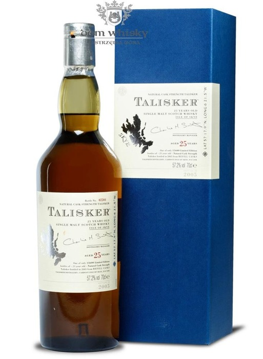 Talisker 25 letni Cask Strength Bottled 2005 (Skye)/57,2%/0,7l
