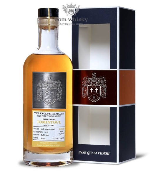 Tomintoul 2006, 10-letni, Creative Whisky Co. / 57,2% / 0,7l