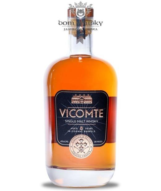 Vicomte SIngle Malt Whisky, 8-letni, Cognac Barrels / 40% / 0,7l