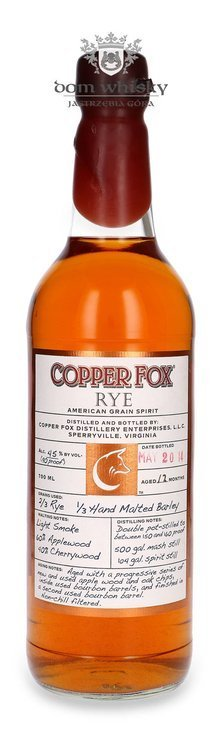 Wasmund's Copper Fox 12 Months / 45% / 0,7l