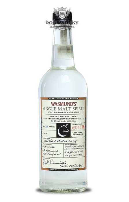 Wasmund's Copper Fox Single Malt Spirit / 62% / 0,75l
