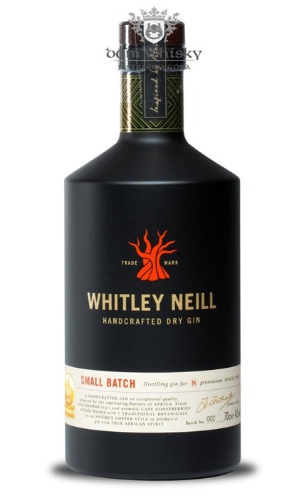 Whitley Neill Handcrafted Dry Gin #002 (UK) / 42% / 0,7l